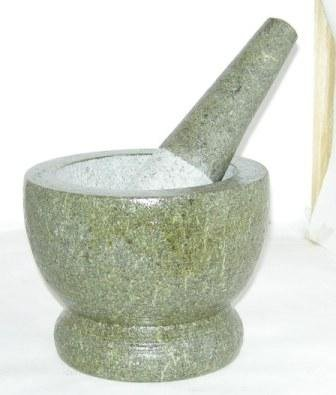 Mortar & Pestle 11.5cm Dia 14cm Hight pestle 19cm long Natural cut Granite Guaranteed Quality