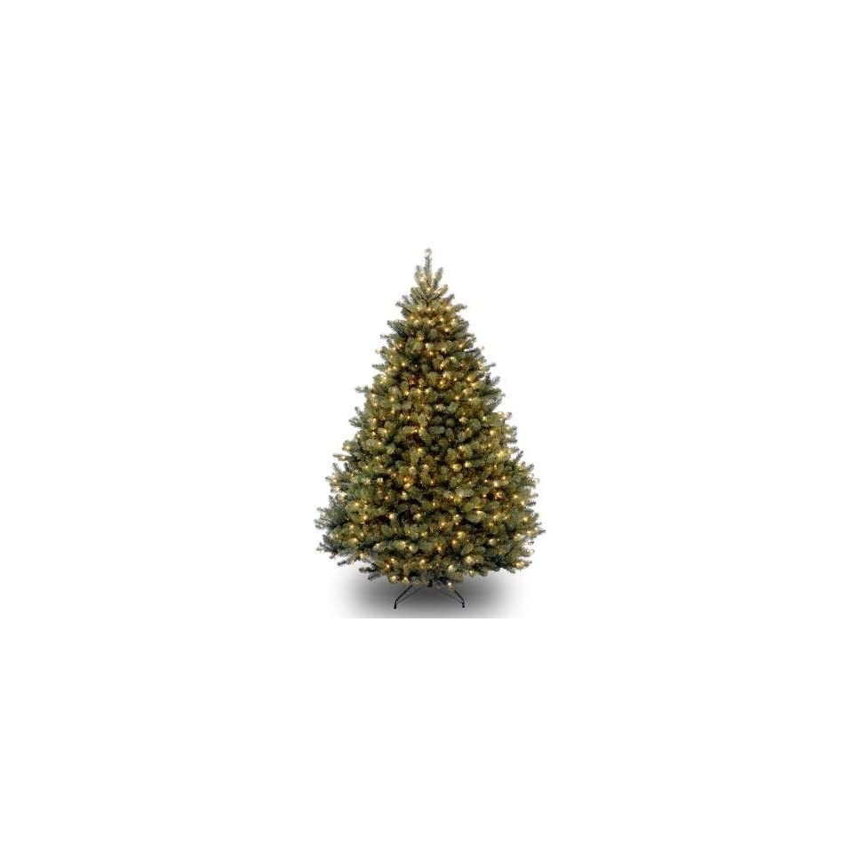 National Tree Company PDBH1 75LO 7.5 Foot Paradise Blue Spruce Hinged Tree with 750 Clear Lights