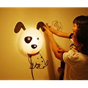 Goodia DIY 3D Wallpaper Novelty Cartoon Wall Stickers Home Room Decor Decoration LED Night Light Lamp for Kids' Bedroom (Lovely Dalmatians)