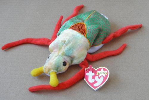 TY Beanie Babies Scurry the Beetle Stuffed Animal Plush Toy - 6 inches long - 1