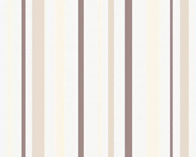 Esprit City Glam Wallpaper Striped Whitebeige