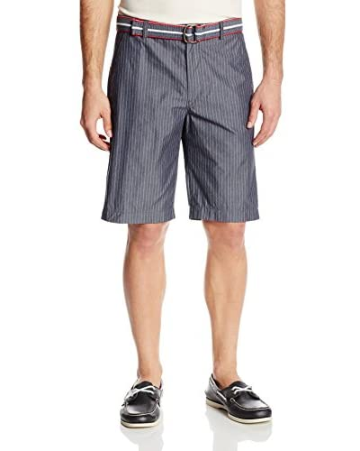 IZOD Men's Belted Faux Denim Short
