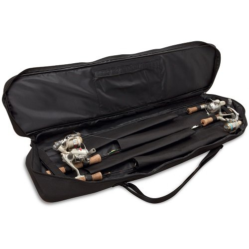 Rapala Soft-Sided 30 Rod Bag, Black/Red (Ice Fishing Gear Bag compare prices)