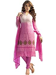 Dhruta Creation pink colors Semi Sititched Cotton Dress materials for women (free_size)
