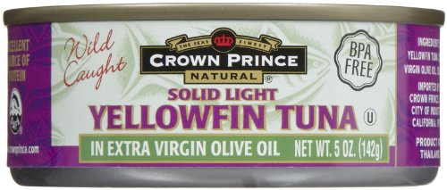 Crown Prince Light Yellow Fin Tuna, In Olive Oil, 5 oz (Canned Tuna In Olive Oil compare prices)