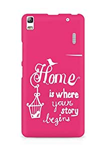 AMEZ home is where your story begins Back Cover For Lenovo A7000