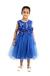 StyleMyKidz Girls' Dress (GDR121_3 Years, Blue, 3 Years)