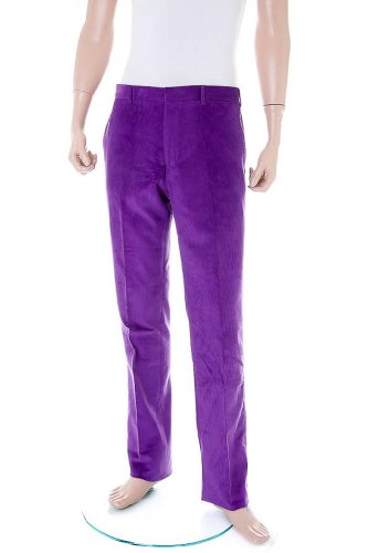 POLO by RALPH LAUREN Cord Trousers / Pants purple, Size 36''R - SG2SH