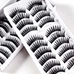 20 Pairs Black Thick Natural Long Mak...