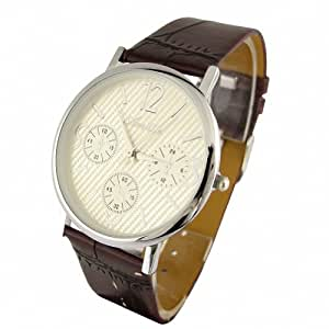 Youyoupifa Gorgeous PU Strap White Case Stainless Steel Wrist Watch NBW0FA6233-WH3