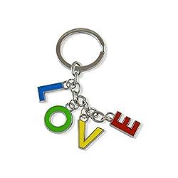 Sarah Metal Key Chain For Unisex (Multi-Colour)