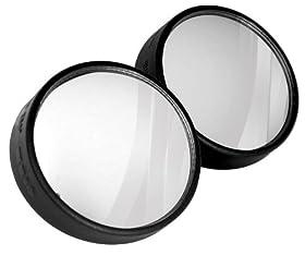 "Custom Accessories 71183 3"" 360 Degree Blind Spot Mirror, (Twin Pack)"