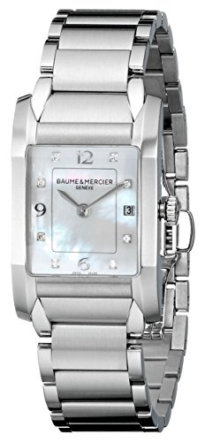 BAUME ET MERCIER HAMPTON M0A10050 LADIES STEEL BRACELET DATE WATCH