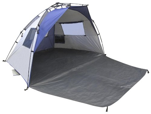 Lightspeed Outdoors Quick Cabana Beach Tent Sun Shelter Blue  sc 1 st  Beach Tent Store & Review of the Lightspeed Quick Cabana Beach Tent
