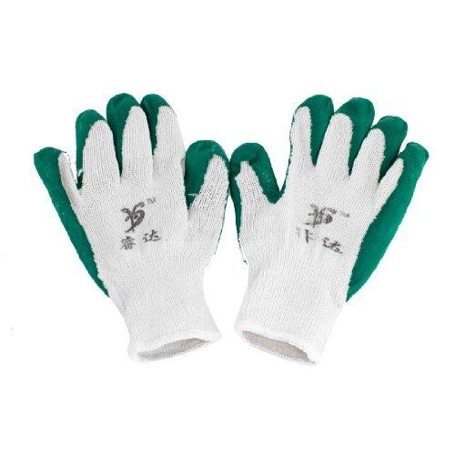 Antirutsch Grün Latex Gummi Beschichtet Gartenbau Labor Handschuhe Paar de