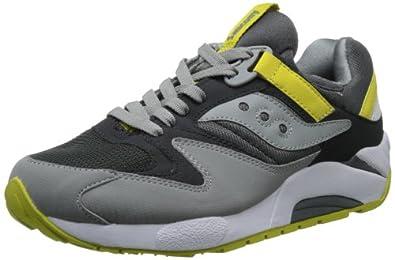 Saucony Originals Men's Grid 9000 Fashion Sneaker,Charcoal/Yellow,10.5 M US