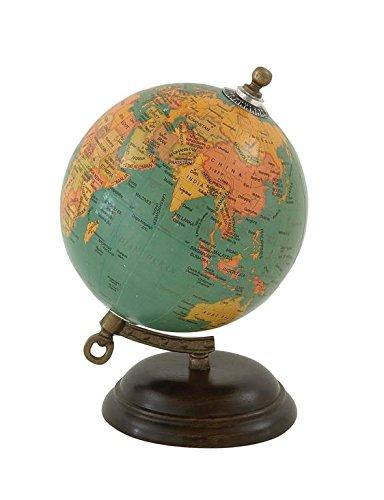 "Deco 79 24983 Wood Metal PVC Globe, 5"" x 8"" 0"