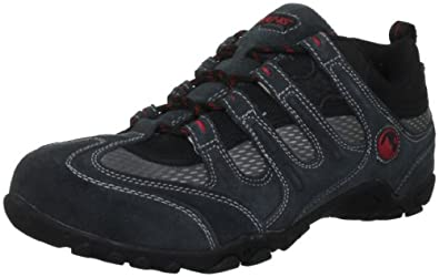 Hi-Tec Men's Quadra Classic Grey/Black/Red Walking Shoe P001867/051/01 9 UK, 43 EU, 10 US