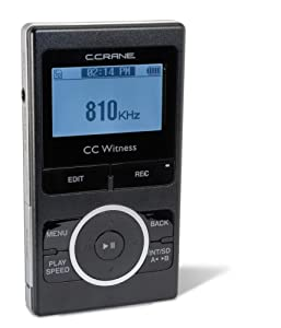 CC Witness 2GB Digital Recorder/MP3 players with AM/FM