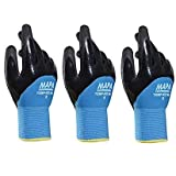 Temp-Ice 700410 700 Gloves, Double Thermal Lined 3/4 Coated Nitrile Grip and Proof Coating, Cold Protection Up to -10 Degree C, Size 10, Black/Blue (1Pair Pack) (Thr?? ???k) (Color: Blue, Tamaño: Thr?? ???k)