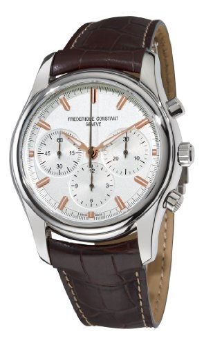 Frederique Constant Men's FC-396V6B6 Peking To Paris Silver Chronograph Dial Watch