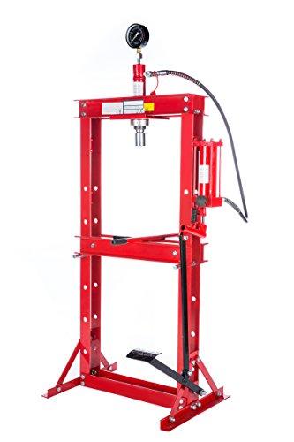 Werkstattpresse-12t-Presse-mit-Manometer-Fupumpe-Lagerpresse-hydraulikpresse