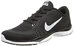 Nike Women\'s Flex Trainer 6 Black/White Training Shoe 6 Women US