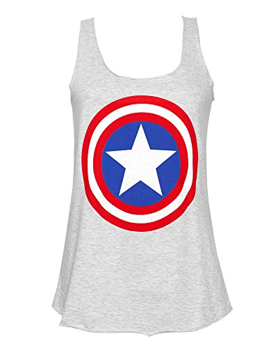 Captain America Shield Womens Tank Top