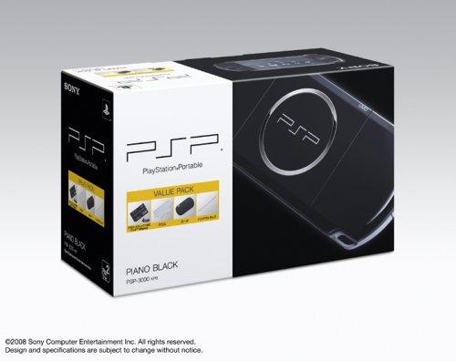 PSP「プレイステーション・ポータブル」 バリュー・パック ピアノ・ブラック(PSP-3000KPB)