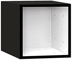 Salsbury Industries Wood Cubby Cube, 12-Inch, Black