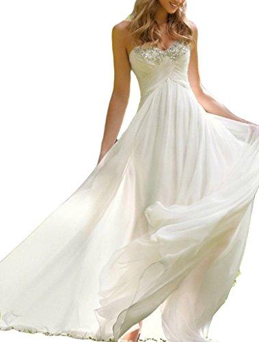 SunnyGirl Sweetheart Empire Beading Maternity Chiffon Wedding Dresses