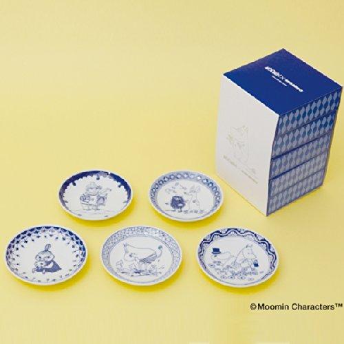 amabro アマブロ Moomin ムーミン SOMETSUKE 染付 手塩皿 5枚セット