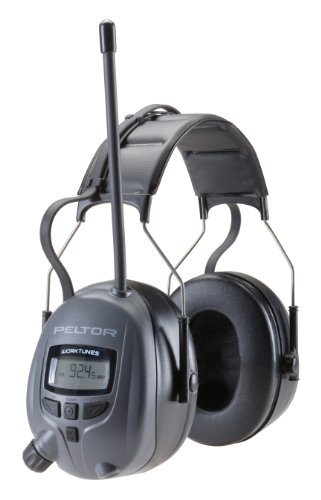 3M Peltor Worktunes Digital Hearing Protector, MP3 Compatible with AM/FM Tuner (WTD2600)
