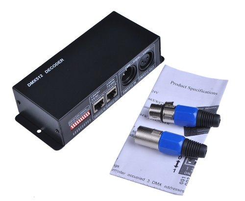Dmx512 Controller Dimmer 3 Channels For Led Light Dc12V-24V
