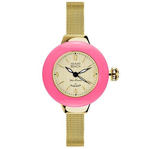 Glam Rock MBD27187 - Reloj para mujeres color dorado