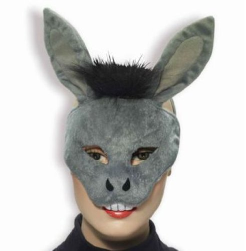 Forum Novelties Deluxe Plush Gray Donkey Animal Half Mask