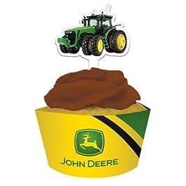 John Deere Buyseasons envoltorios para magdalenas con obleas decorativas para cupcakes