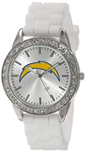 Game Time Ladies NFL-FRO-SD Frost NFL Series San Diego Chargers 3-Hand Analog Watch by Game Time