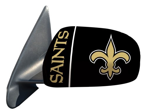 Fanmats Nfl New Orleans Saints Polyester Mirror Cover-Small front-714607