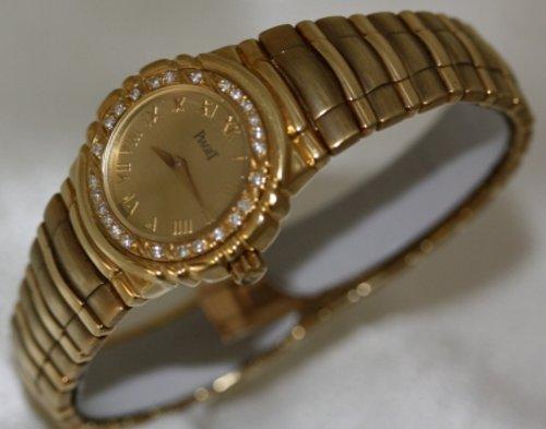 Piaget Tanagra 18K Solid Gold Diamond Bezel Women's Watch