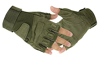 Eforcase Outdoor Sports Military Half-finger Fingerless Tactical Airsoft Hunting Riding Cycling Gloves Black Green Camel Available