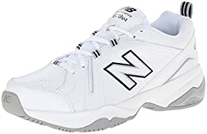 New Balance Women's WX608V4 Training Shoe,White/Navy,7 B US