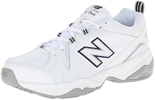New Balance Women's WX608V4 Training Shoe,White/Navy,9.5 B US