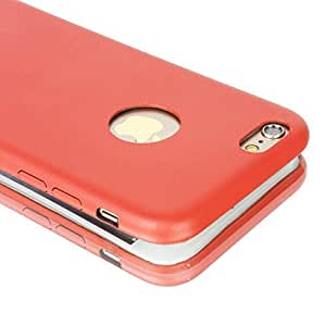 Ultra-thin PU Leather Hard Back Case Cover For Apple iPhone 6 Red