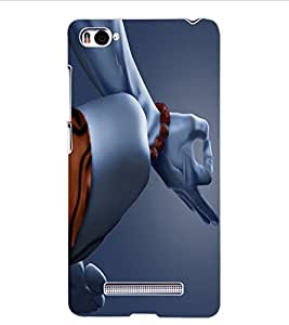 ColourCraft Lord Shiva Design Back Case Cover for XIAOMI MI 4I