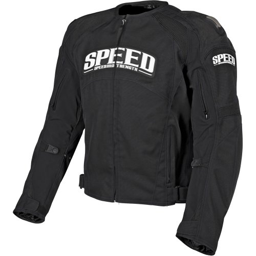 Speed and Strength Twist of Fate 3.0 Men's Textile Street Bike Racing Motorcycle Jacket - Black / X-Large