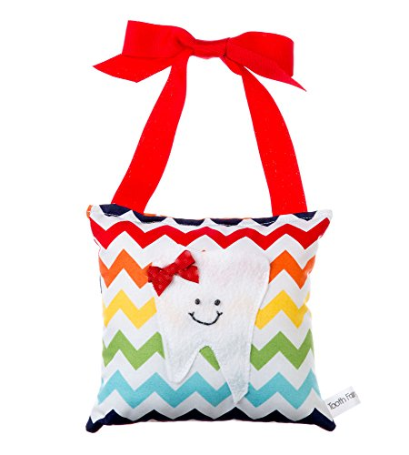 Girl'S Tooth Fairy Pillow In Rainbow Chevron front-873957