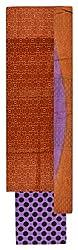 Chandni Women's Cotton Unstitched Salwar Suit Material (Brown)