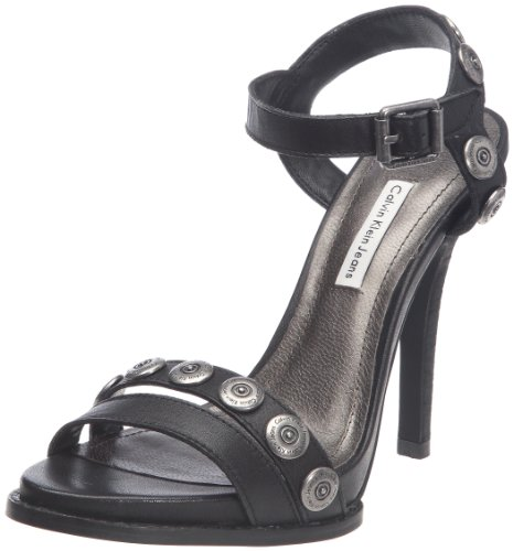 Calvin Klein Jeans Women's Eva Vacchetta Black Special Occasion Heels R3520 6 UK, 39 EU