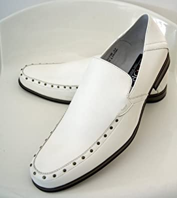 """Herrenschuhe,festliche Schuhe,Slipper,Komfirmationsschuhe""""Rio"""" weiss Größe 40"""